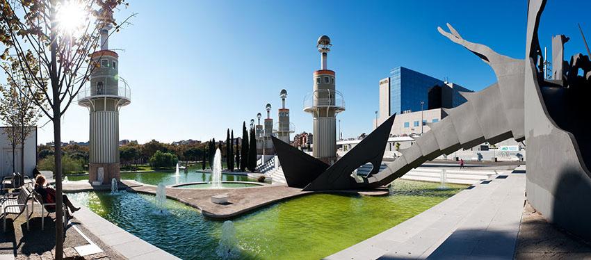 El Parque de la España Industrial es un lugar ideal para comer al aire libre en Barcelona