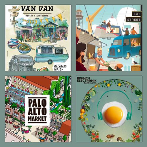 Eat Street, Van Van Market, Palo Alto y Brunch Electronik al puro estilo street food