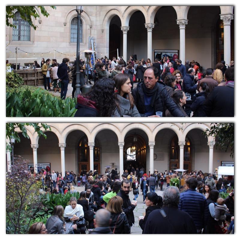 En la zona de Jardines del interior de la Universitat de Barcelona podrás disfrutar del mejor Street food de nuestra ciudad.