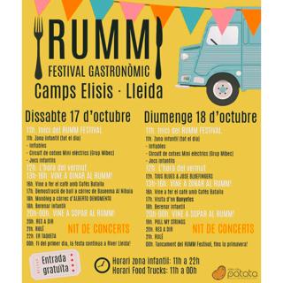 Rumm Festival Gastronomic es el primer festival de Food Trucks que llega a Lleida