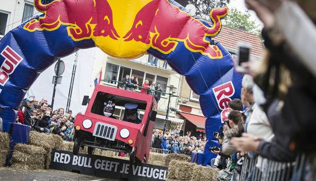 Red Bull autos locos en Barcelona