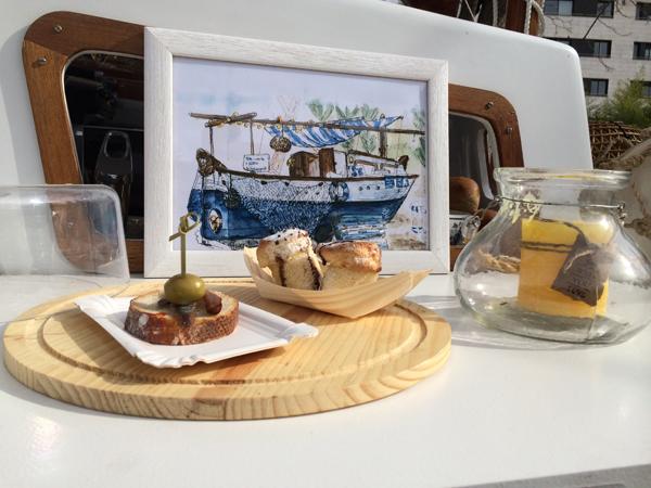 Productos mediterráneos en el street food